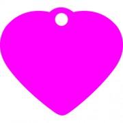 Μικρή Ροζ Ταυτότητα Σκύλου/ Γάτας - Καρδιά