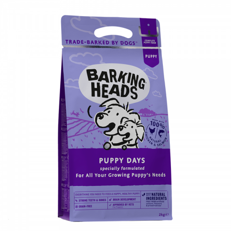 "BARKING HEADS ""PUPPY DAYS""-ΚΟΤΟΠΟΥΛΟ & ΣΟΛΟΜΟΣ GRAIN FREE Ξηρά Τροφή Σκύλου"