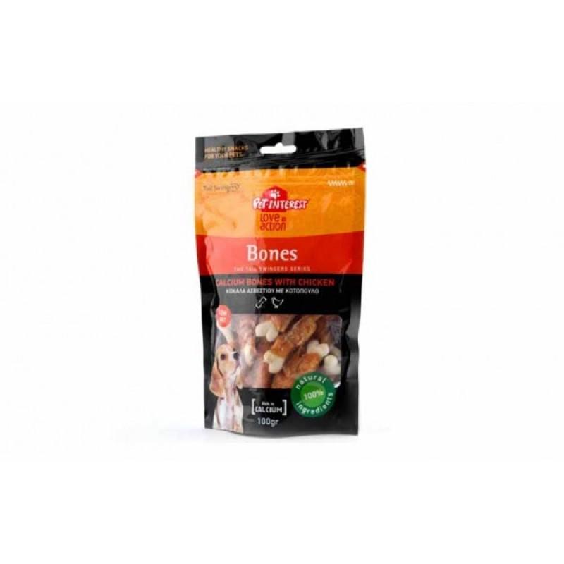 PET INTEREST- CALCIUM BONES WITH CHICKEN Λιχουδιές- Snacks
