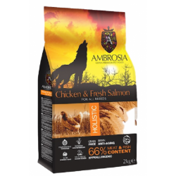 AMBROSIA ΚΟΤΟΠΟΥΛΟ & ΣΟΛΟΜΟΣ Ξηρά Τροφή Σκύλου