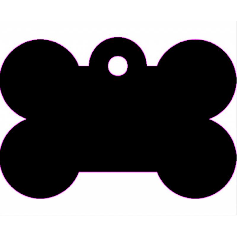 Μικρή Μαύρη Ταυτότητα Σκύλου/ Γάτας- Κόκκαλο