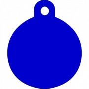 Μεγάλη Μπλε Ταυτότητα Σκύλου/ Γάτας- Κύκλος