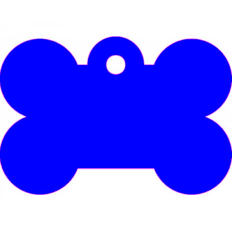 Μεγάλη Μπλε Ταυτότητα Σκύλου/ Γάτας- Κόκκαλο