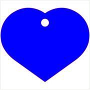 Μεγάλη Μπλε Ταυτότητα Σκύλου/ Γάτας - Καρδιά