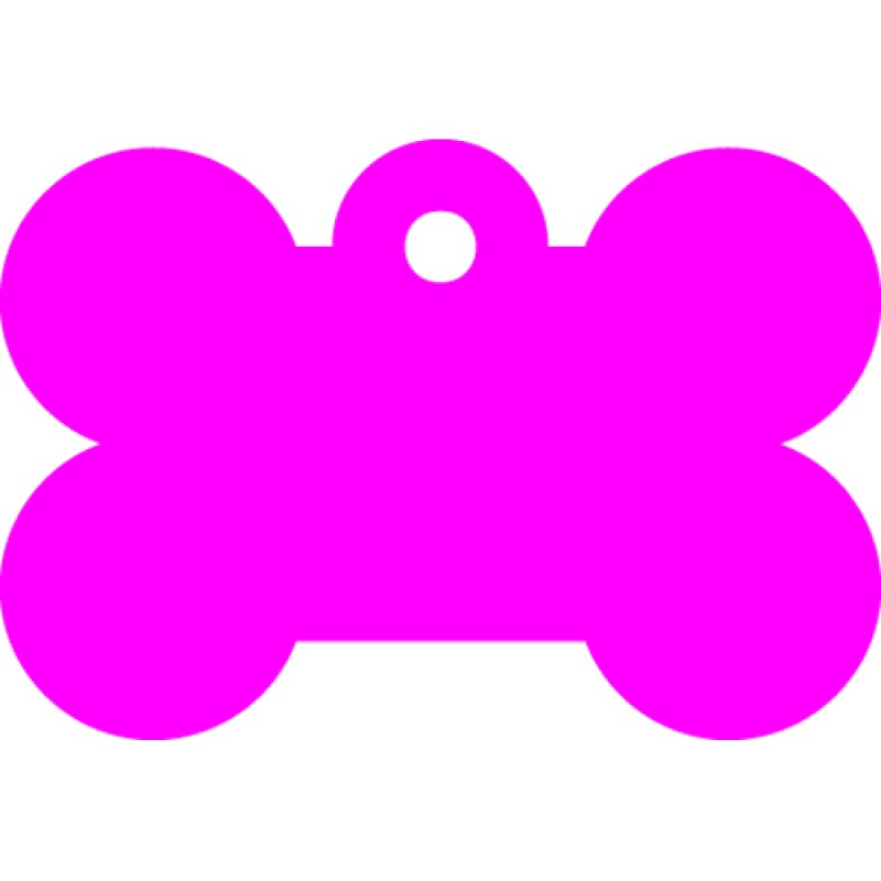 Μικρή Ροζ Ταυτότητα Σκύλου/ Γάτας- Κόκκαλο