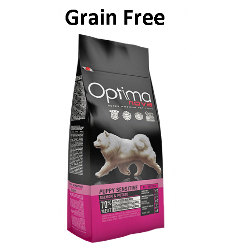 GRAIN FREE OPTIMA NOVA PUPPY DIGESTIVE- ΣΟΛΟΜΟΣ & ΠΑΤΑΤΑ