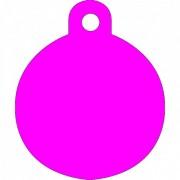 Μεγάλη Ροζ Ταυτότητα Σκύλου/ Γάτας- Κύκλος