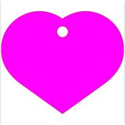 Μεγάλη Ροζ Ταυτότητα Σκύλου/ Γάτας - Καρδιά